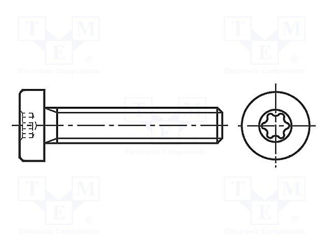M3X12/BN4850 ISO14580