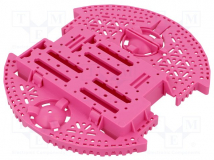ROMI CHASSIS BASE PLATE - PINK