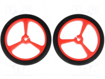 POLOLU WHEEL 40×7MM - RED