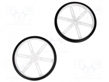 WHEEL 90×10MM PAIR WHITE