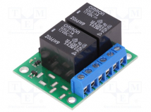 2-CH SPDT RELAY CARRIER WITH 12VDC RELAY