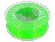 PLA-1.75-BRIGHT GREEN SEMI TRANSPARENT