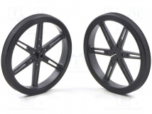 POLOLU WHEEL 80X10MM PAIR – BLACK
