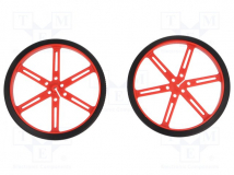 WHEEL 90×10MM PAIR RED