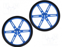 POLOLU WHEEL 80X10MM PAIR – BLUE