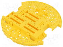 ROMI CHASSIS BASE PLATE - YELLOW