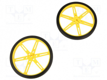 WHEEL 80×10MM PAIR YELLOW