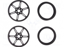WHEEL W/INSERTS FOR 3MM AND 4MM SHAFTS