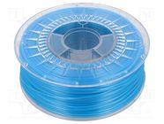 PLA-1.75-BLUE SEMI TRANSPARENT