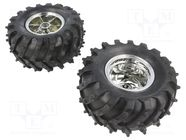 DAGU WILD THUMPER WHEEL PAIR - CHROME
