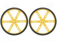 POLOLU WHEEL 90X10MM PAIR – YELLOW