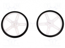 WHEEL 70×8MM PAIR WHITE
