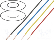 STRANDED WIRE: YELLOW, 20 AWG, 40