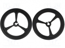 POLOLU WHEEL 40×7MM - BLACK