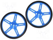 POLOLU WHEEL 70X8MM PAIR – BLUE