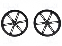 POLOLU WHEEL 90X10MM PAIR – BLACK