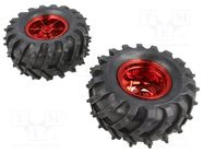 DAGU WILD THUMPER WHEEL PAIR - RED