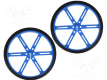 POLOLU WHEEL 90X10MM PAIR – BLUE