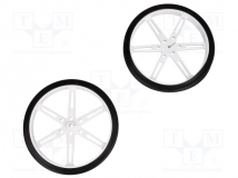 WHEEL 80×10MM PAIR WHITE