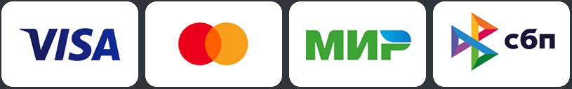 Принимаем оплату онлайн с банковских карт Visa, Mastecard и МИР, а так же по безналичному расчету от юридических лиц